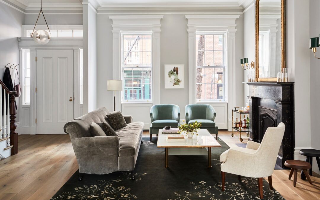 Tour a greek revival townhouse with traditional and midcentury details